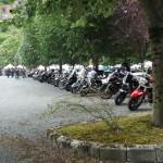 rassemblement d'Harley et de voitures Americaine